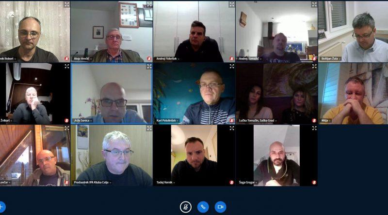 Virtualna seja razširjenega upravnega odbora IPA kluba Celje
