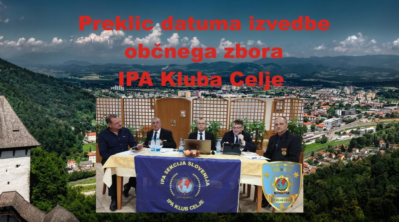 Preklic datuma izvedbe občnega zbora IPA Kluba Celje